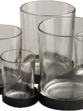 Gusta Metalenhouder met 5 glaasjes