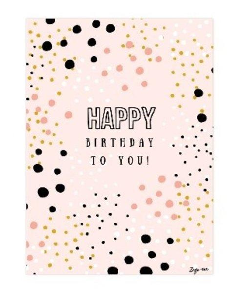 zusje-van Kaart Happy birthday to you