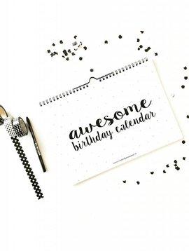 Verjaardagskalender Awesome A4