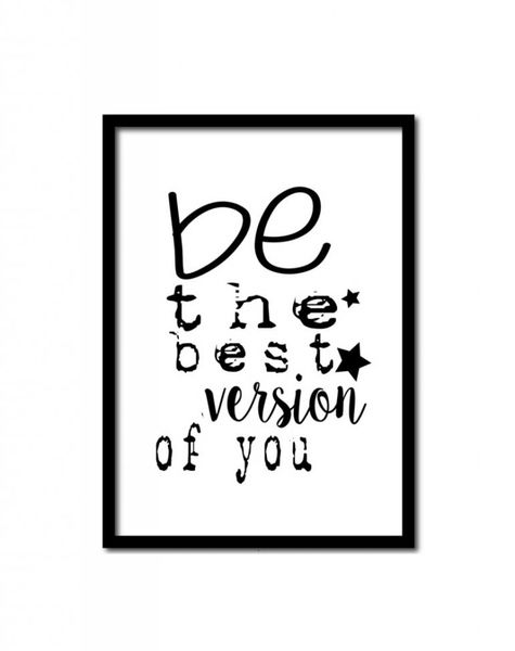 Poster A4 Be the best version of you