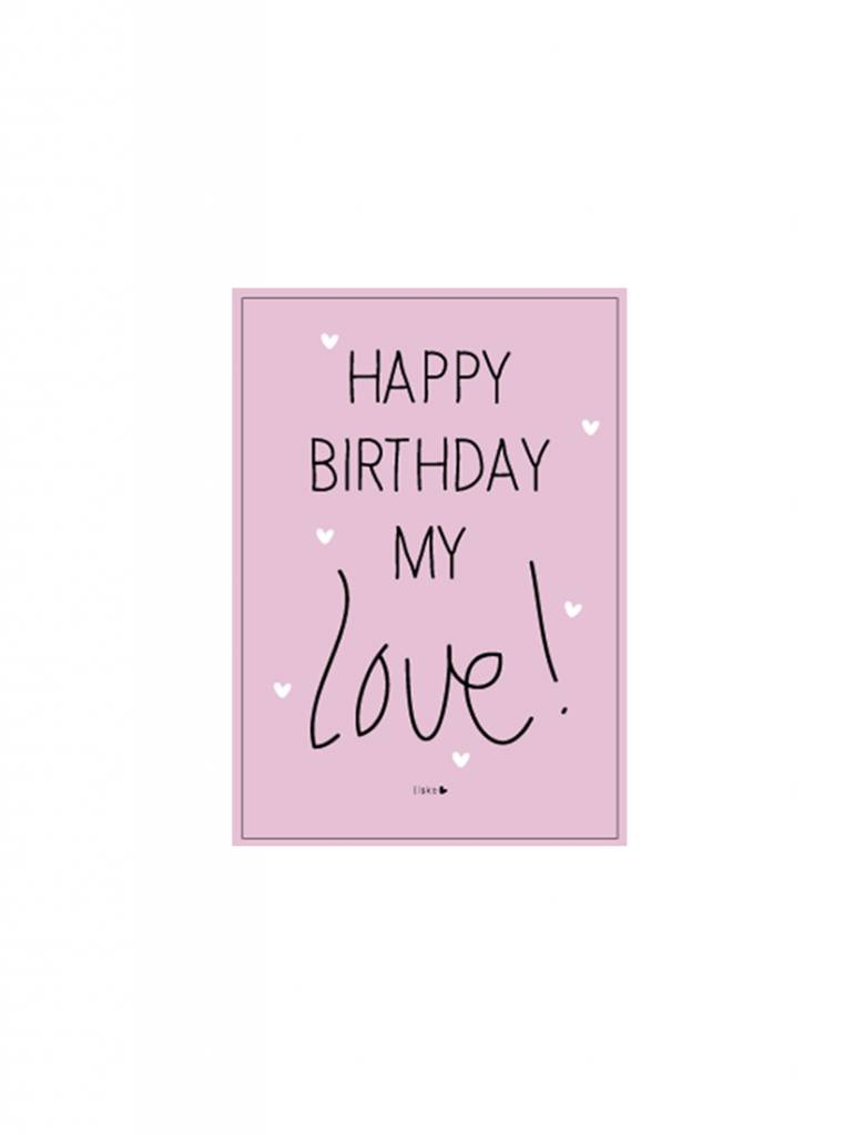 Kaart Happy birthday my love