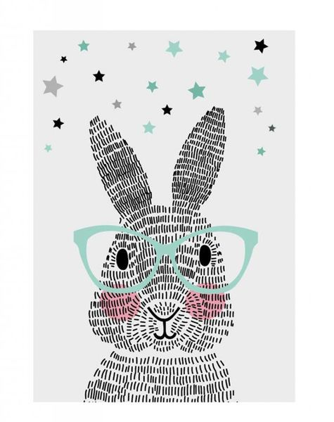 Poster A2 Mr. rabbit