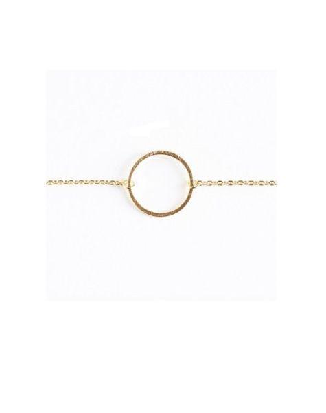 Armband cirkel goukleurig