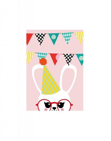 Verjaardagskaart Konijn