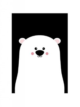 Poster A3 (29,7x42) Bear black