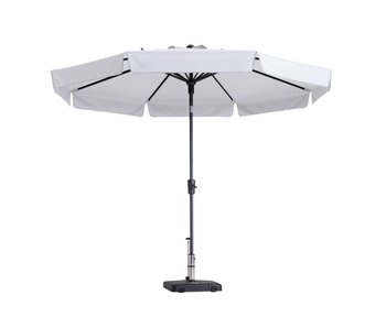Madison parasol flores luxe 300 cm. polyester off white