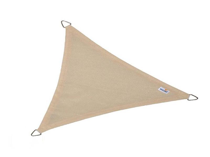 Nesling schaduwdoek driehoek gebroken wit - 5,0x5,0x7,1 m.