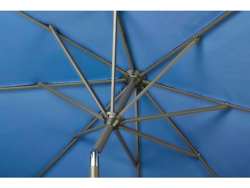 Platinum Riva stokparasol rond 3 meter - Antraciet