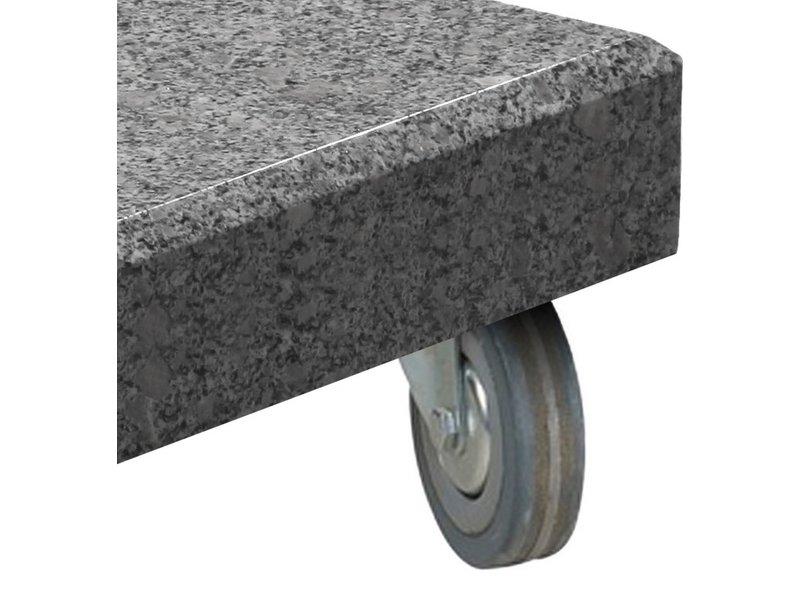 4-Seasons wielen voor Siesta parasolvoet graniet - 125 kg
