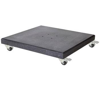 Platinum Platinum verrijdbare parasolvoet graniet 90 KG  - Nero black