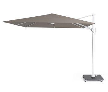 Platinum Challenger parasol T2 premium - 3x3 m. white frame - Havanna
