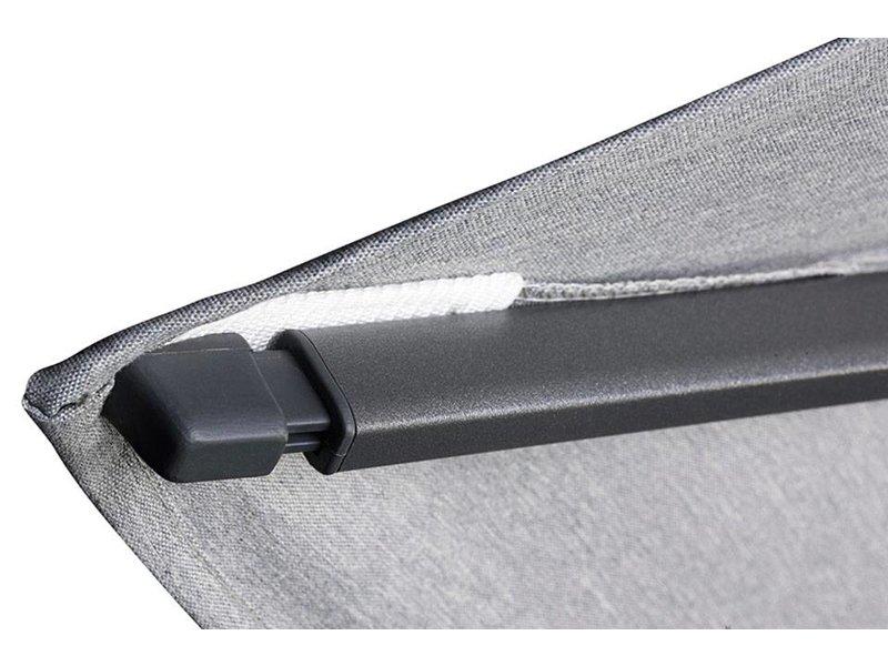 Platinum Challenger parasol T2 premium - 3,5 m. rond Oak - Faded Black