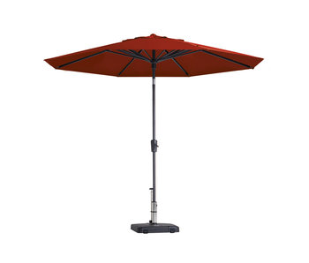 Madison parasol Paros - 300 cm. - Brick red