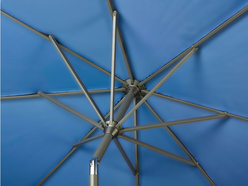 Platinum Riva stokparasol rond 2.5 m. - Black