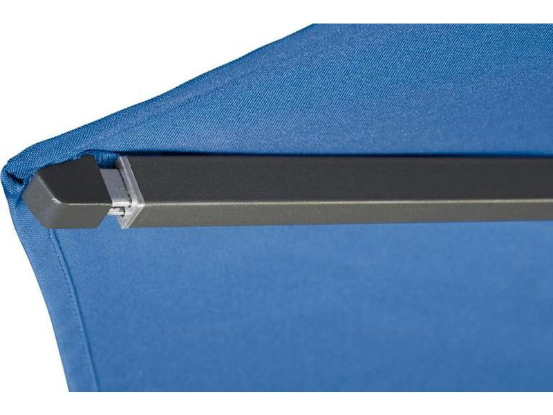 Platinum Riva stokparasol vierkant 2.5x2.5 m. - Light Grey