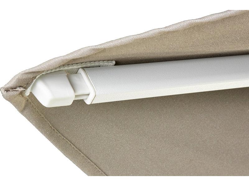 Platinum Challenger parasol T2 premium - 3x3 m. white frame - Manhattan