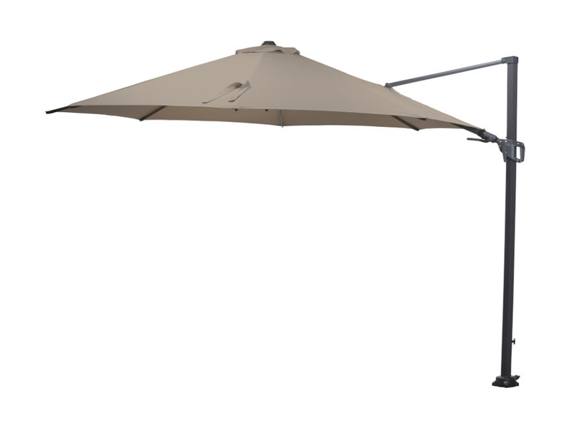 Garden Impressions Hawaii zweefparasol 300x300 cm Carbon Black - Taupe