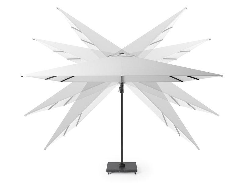 Platinum Challenger T2 parasol - 3x3 m. - Antraciet