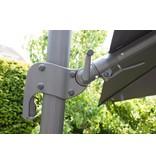 Garden Impressions Hawaii zweefparasol Big Pole 350x350 cm. Dark grey