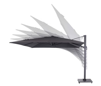 Garden Impressions Hawaii zweefparasol Big Pole 350x350 cm. Dark grey