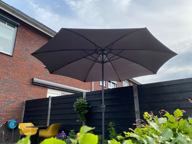 vdgarde Juno parasol rond - 300 cm.  Antraciet - Deluxe