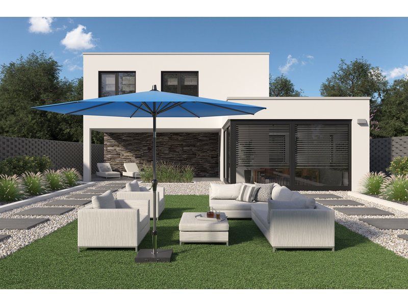 Platinum Riva stokparasol vierkant 2.5x2.5 m. - Black