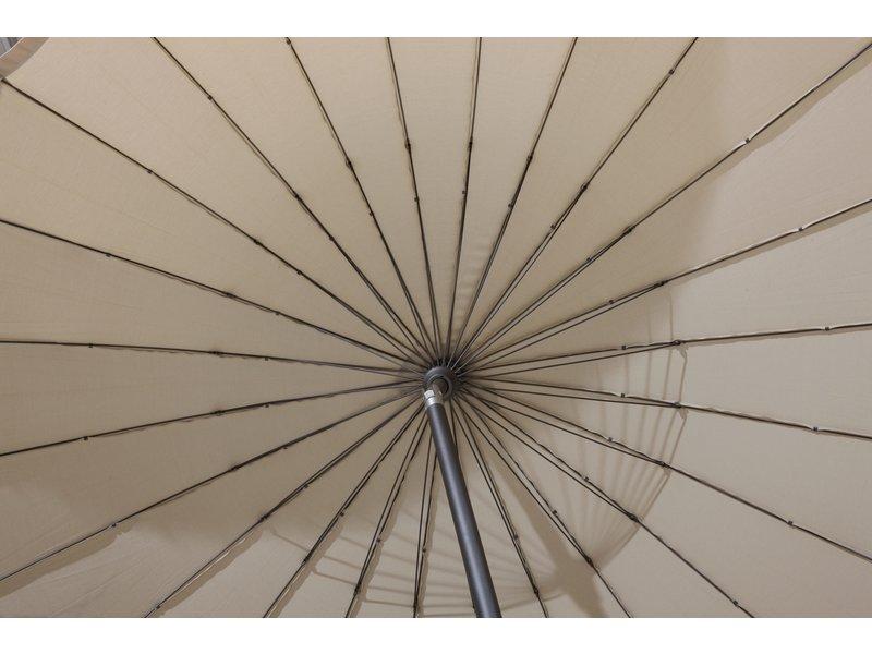 4-Seasons Shanghai stokparasol 300 cm - Charcoal