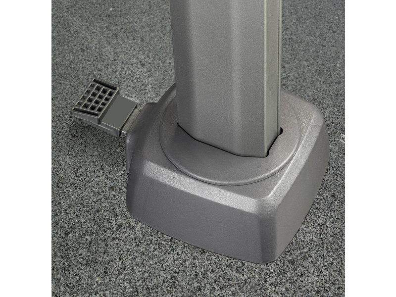 Platinum Platinum Voyager Vierkante Zweefparasol T2 2,7x2,7 m. - Light Grey