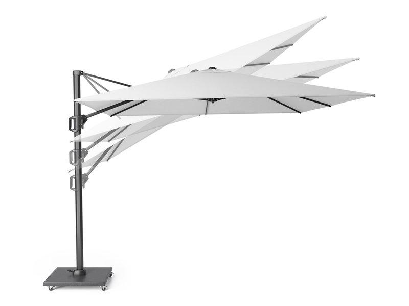 Platinum Voyager Vierkante Zweefparasol T1 2,5x2,5 m. - Antraciet