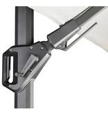 Platinum Challenger rechthoekige zweefparasol T2 Premium - 3,5 x 2,6 m. - Jet Black