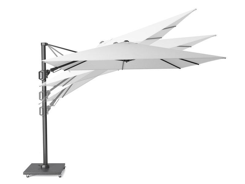 Platinum Challenger rechthoekige zweefparasol T2 Premium - 3x3 m. - Jet Black