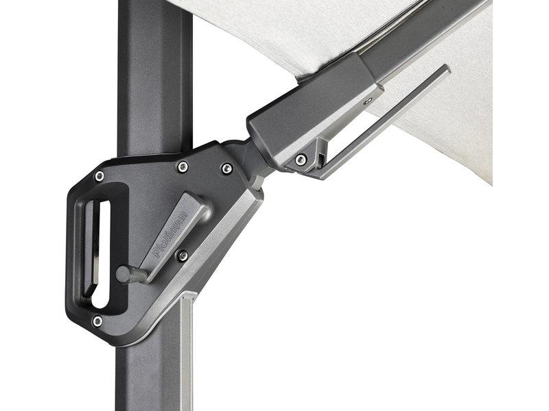 Platinum Platinum Challenger rechthoekige zweefparasol T2 Premium - 3x3 m. - Jet Black