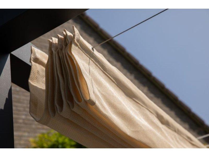 Nesling Harmonica schaduwdoek 290x400 cm. Zand