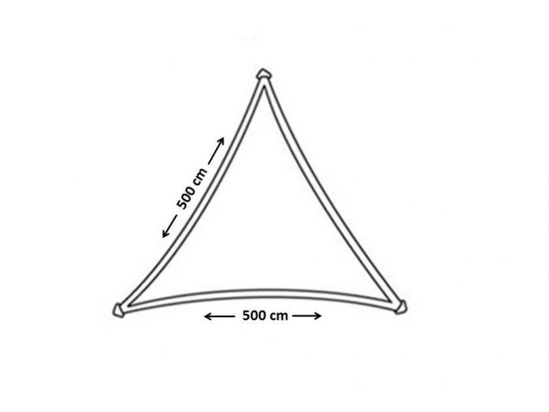 Nesling Coolfit schaduwdoek driehoek 5x5x5 m. Lime