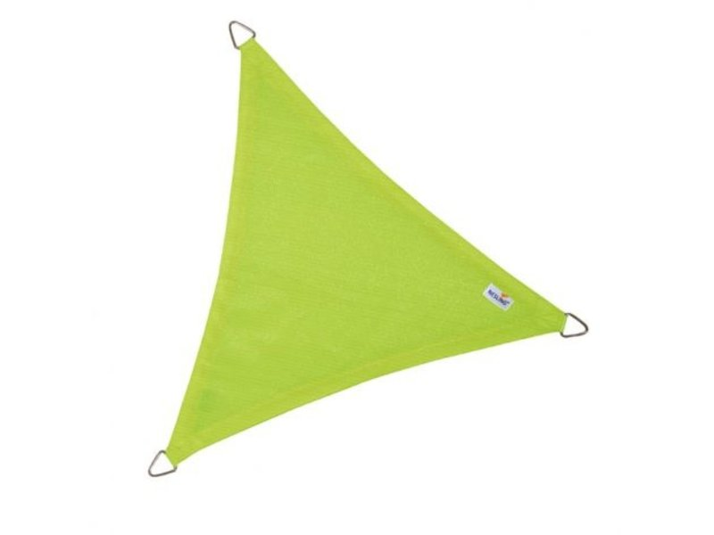Nesling Coolfit schaduwdoek driehoek 3,6x3,6x3,6m. Lime