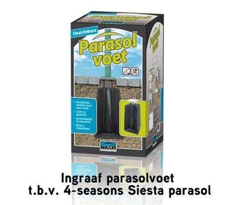 Terra Easyfoot ingraaf parasolvoet tbv Siesta parasol