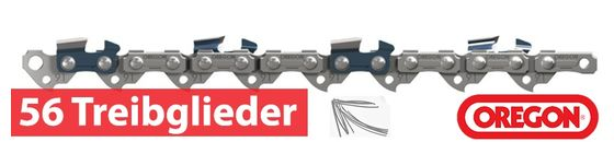 Oregon Sägeketten und Schwerte 1.1mm 3/8LP 56 Treibglieder