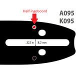 Oregon Schwert Double Guard 91 | 160SDEA095 | 40cm | 1.3mm | 3/8LP