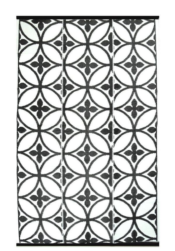 Zwart wit plastic tuinkleed circles