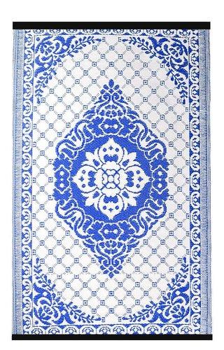 Buitenkleed blauw wit