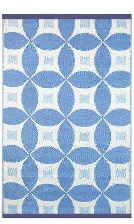 Blauw vloerkleed voor buiten