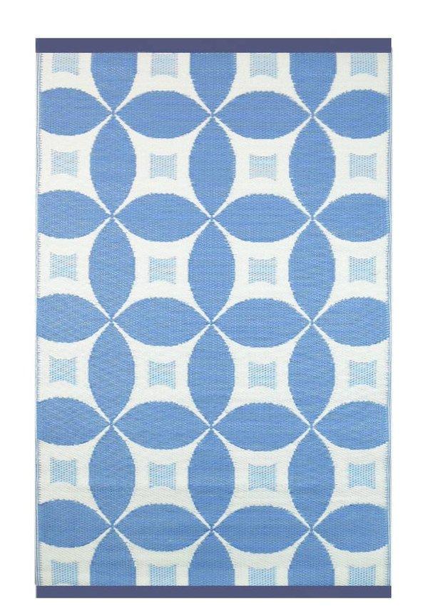 Blauw vloerkleed voor buiten circles