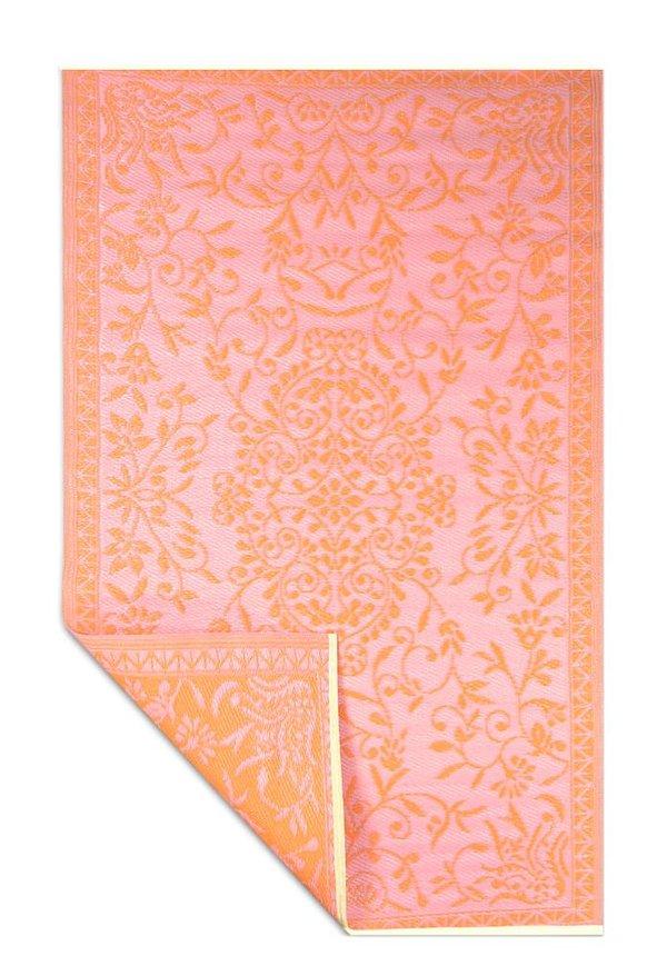 Buitentapijt hippy roze met oranje