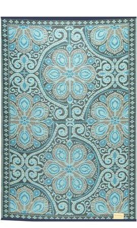 Buitenkleed blauw