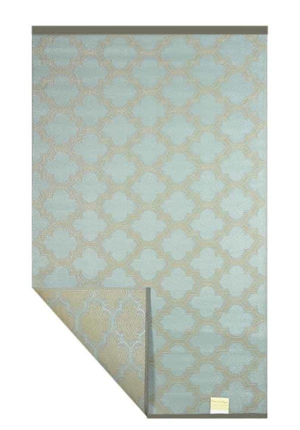 Grijs taupe plastic buitenkleed orientaals