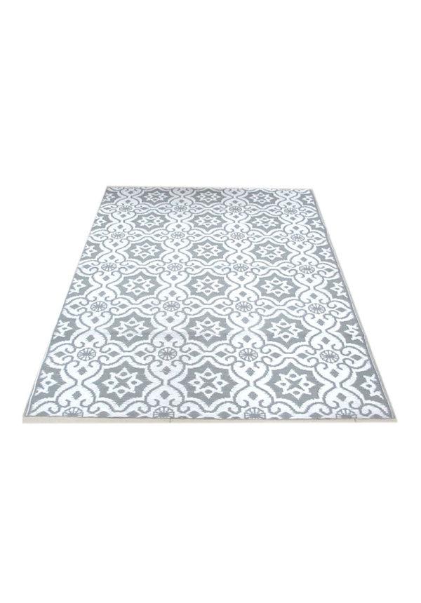 Buiten vloerkleed grijs wit ibiza stijl