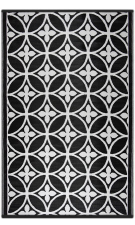 Zwart wit plastic tuinkleed