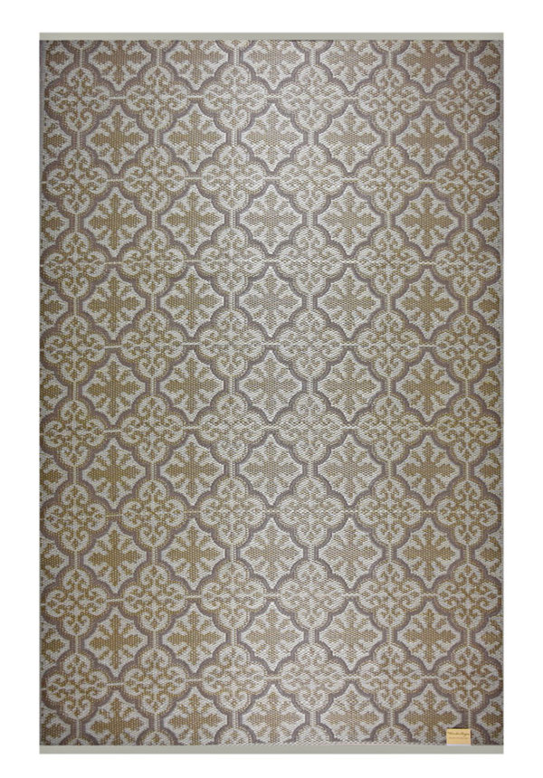 Taupe goud outdoor kleed