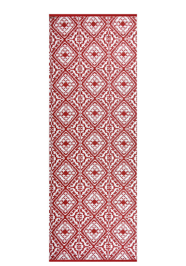 Balkonkleed rood wit