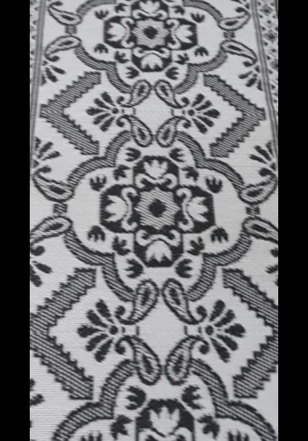 Zwart wit groot buitenkleed